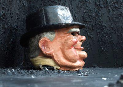 Vintage Carnival Paper Mache Winston Churchill 4