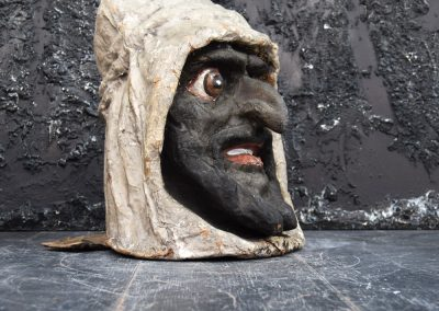Papier Mache Goblin Head from Paris (SOLD) 5