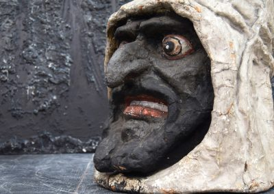 Papier Mache Goblin Head from Paris (SOLD) 6