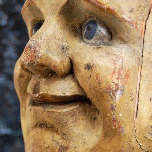 English Folk Art Fairground Knock down Head