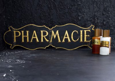 Antique French Pharmacy Sign 4