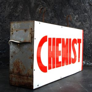 Vintage Double Sided Chemist Sign