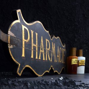 Antique French Pharmacy Sign