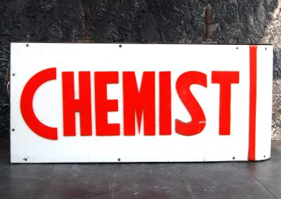 Vintage Double Sided Chemist Sign 4