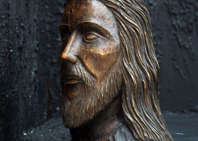 19th Century Christ Head 5
