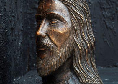 19th Century Christ Head 5