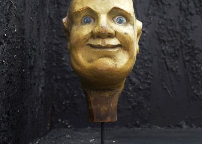 English Folk Art Fairground Knock down Head 2