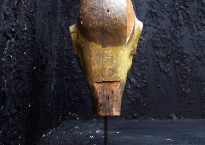 English Folk Art Fairground Knock down Head 8