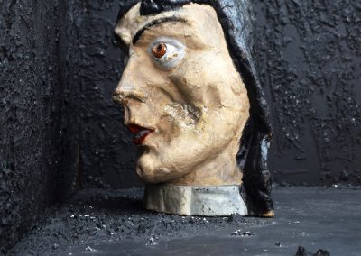 Papier Mache Ladies Head from Paris (Sold) 3