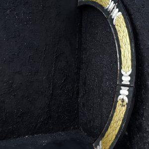Ebonised Gold leaf Mirror Pelmet