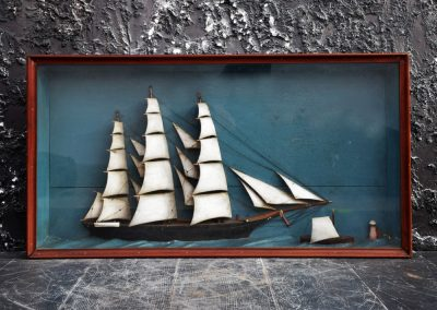 French Ship Diorama (Sold) 2