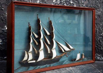 French Ship Diorama (Sold) 5