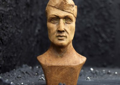 Hand Carved Soldier Bust 3