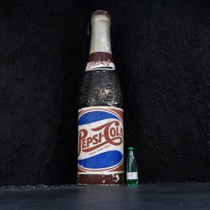 Papier Mache Pepsi Cola Advertising Bottle