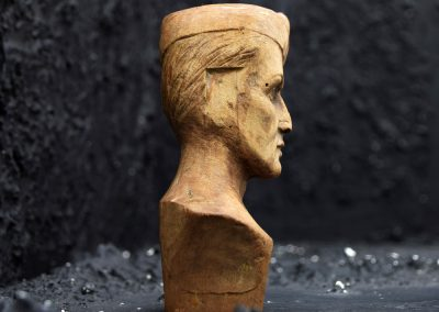 Hand Carved Soldier Bust 7