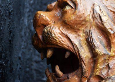 1880 Hand Carved Folk Art Lions Head 6