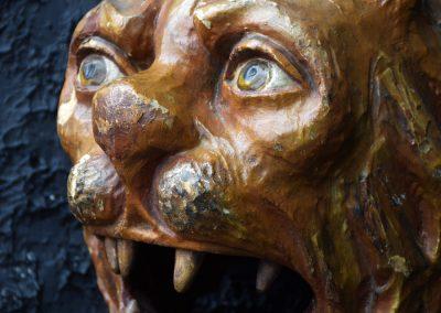 1880 Hand Carved Folk Art Lions Head 2