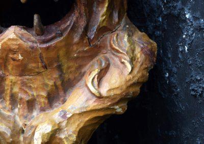 1880 Hand Carved Folk Art Lions Head 8