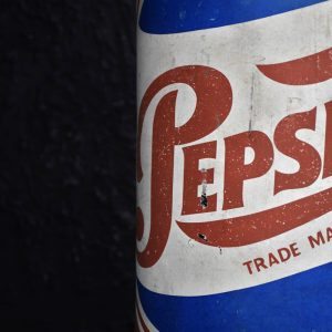 Papier Mache Pepsi Cola Advertising Bottle