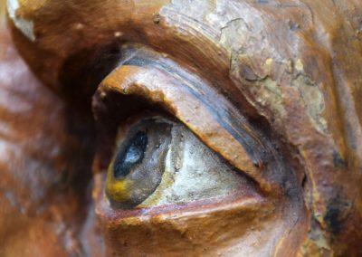 1880 Hand Carved Folk Art Lions Head 11