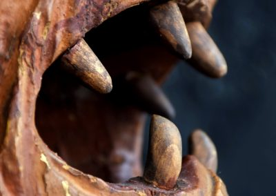 1880 Hand Carved Folk Art Lions Head 5