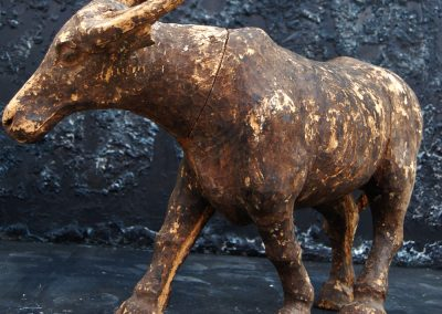 Antique Wooden Buffalo Statue (SOLD) 4