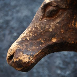 Antique Wooden Buffalo Statue (SOLD)