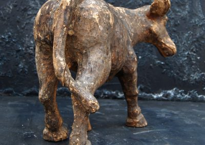 Antique Wooden Buffalo Statue (SOLD) 2