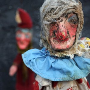 Punch Puppet Set by Waldo Lanchester (Sold)
