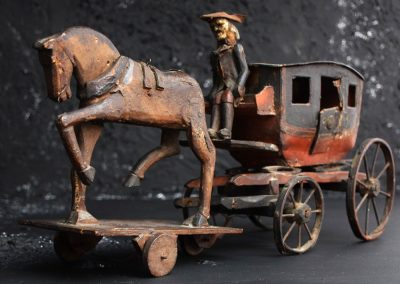 19th Century Toy Horse and Carriage 2