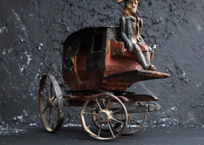 19th Century Toy Horse and Carriage 7