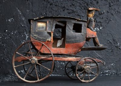 19th Century Toy Horse and Carriage 8