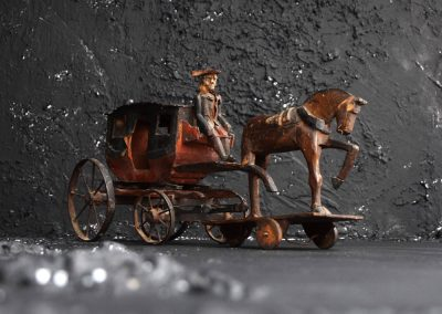 19th Century Toy Horse and Carriage 12