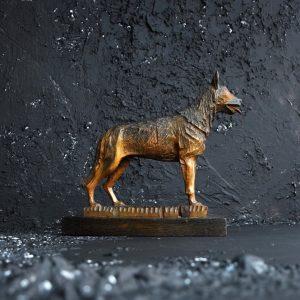 Folk Art Dog Statue