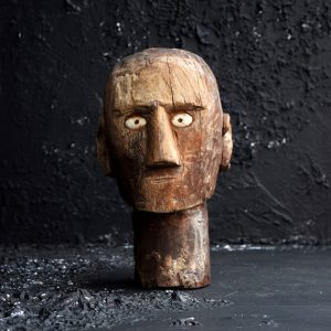 Folk-art carved head