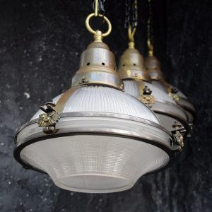 Holophane Pendant Lamps c.1920 *Sold