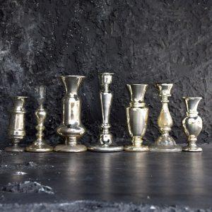 Mercury Glass Candle Sticks