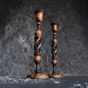 Kashmir candle sticks c.1900