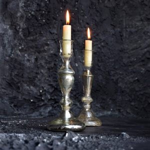 Mercury Glass Candle Sticks *Sold