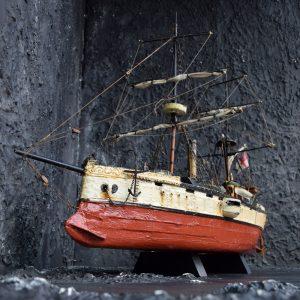 Folk Art Scratch Built Ship