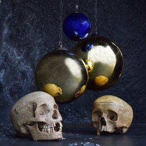 Mercury glass witches' balls
