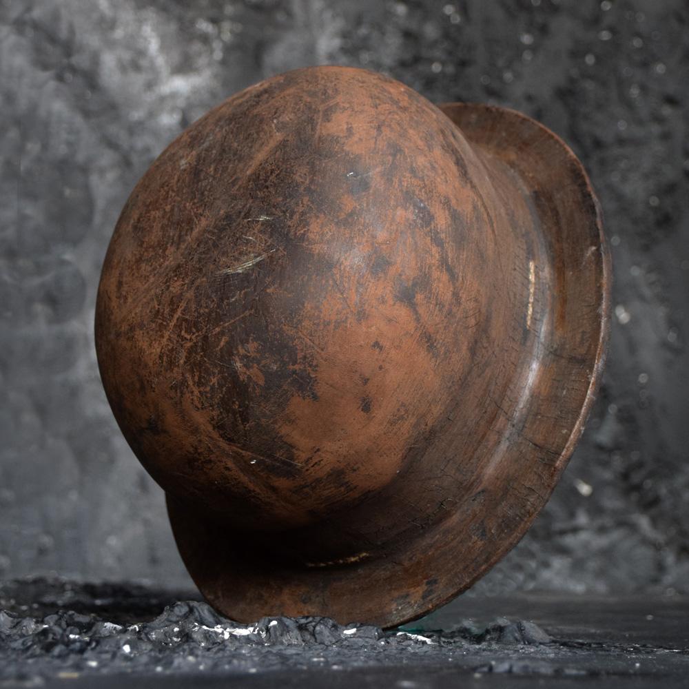 19th Century Leather Miners Helmet