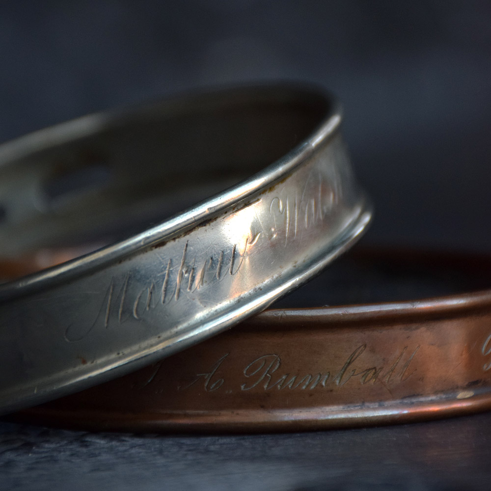 Silver & Copper Dog Collars
