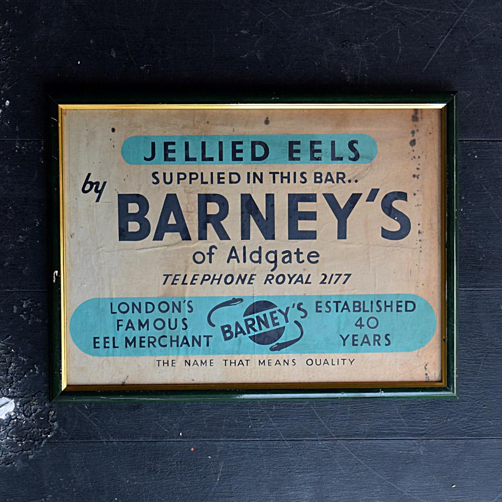 Barneys of Aldgate advertising sign