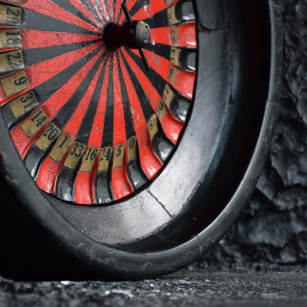 Scratch-built roulette wheel