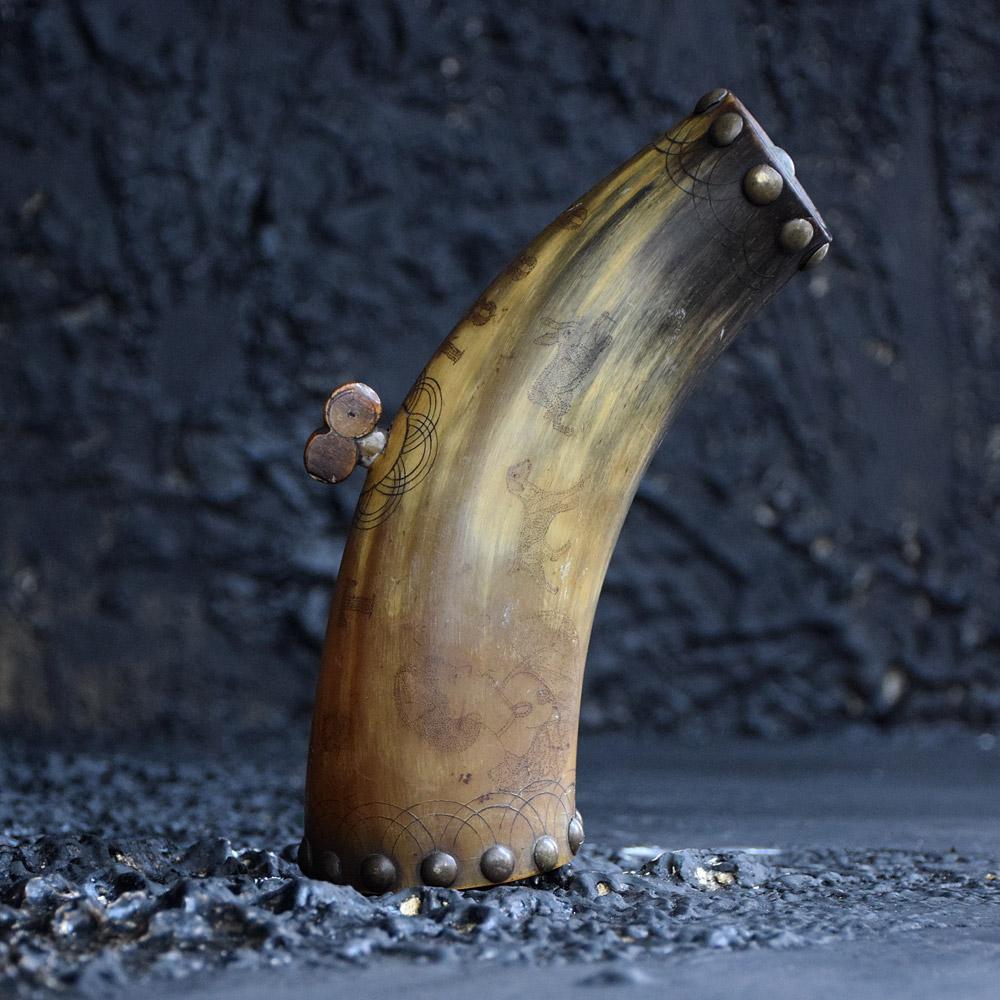 Scrimshaw Horn
